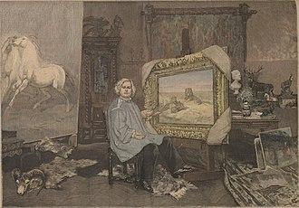 Georges Achille-Fould - Image: Rosa Bonheur dans son atelier par Fould