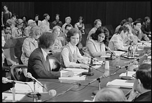 Rosalynn Carter - Rosalynn Carter chairs a meeting in Chicago, Illinois. for the President's Commission on Mental Health on April 20, 1977.