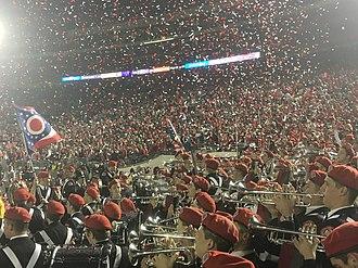 2019 Rose Bowl - Ohio State Marching Band and stadium immediately after the game