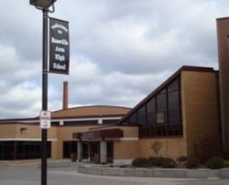Roseville, Minnesota - Entrance to Roseville Area High School