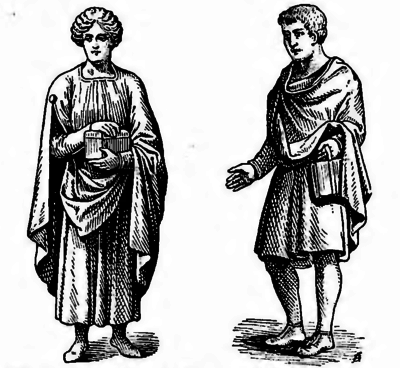 Fig. 21. — Gaule romaine. — Costumes.