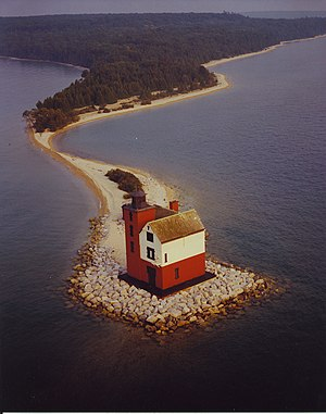 Round Island Light (Michigan) - Image: Round Island Lighthouse Michigan