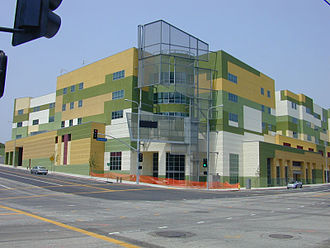 1st Street, Los Angeles - Edward R. Roybal Learning Center in Downtown Los Angeles