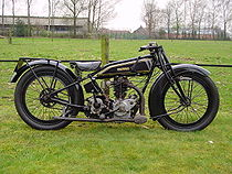 "Rudge 500 cc ""four valve four speed"" vierklepper uit 1924"