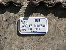 affiche Jacques Dumesnil