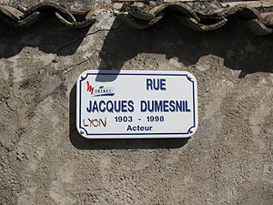 Jacques Dumesnil - Jacques-Dumesnil street at Miribel, Ain.