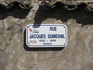 Jacques Dumesnil French actor
