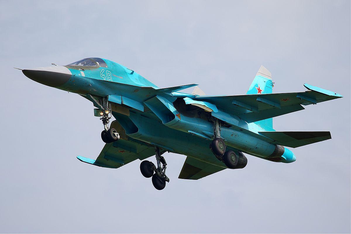 [Obrazek: 1200px-Russian_Air_Force_Sukhoi_Su-34_Be...st2011.jpg]