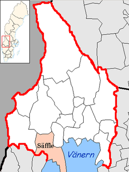 Säffle kommunes situation i Värmlands amt