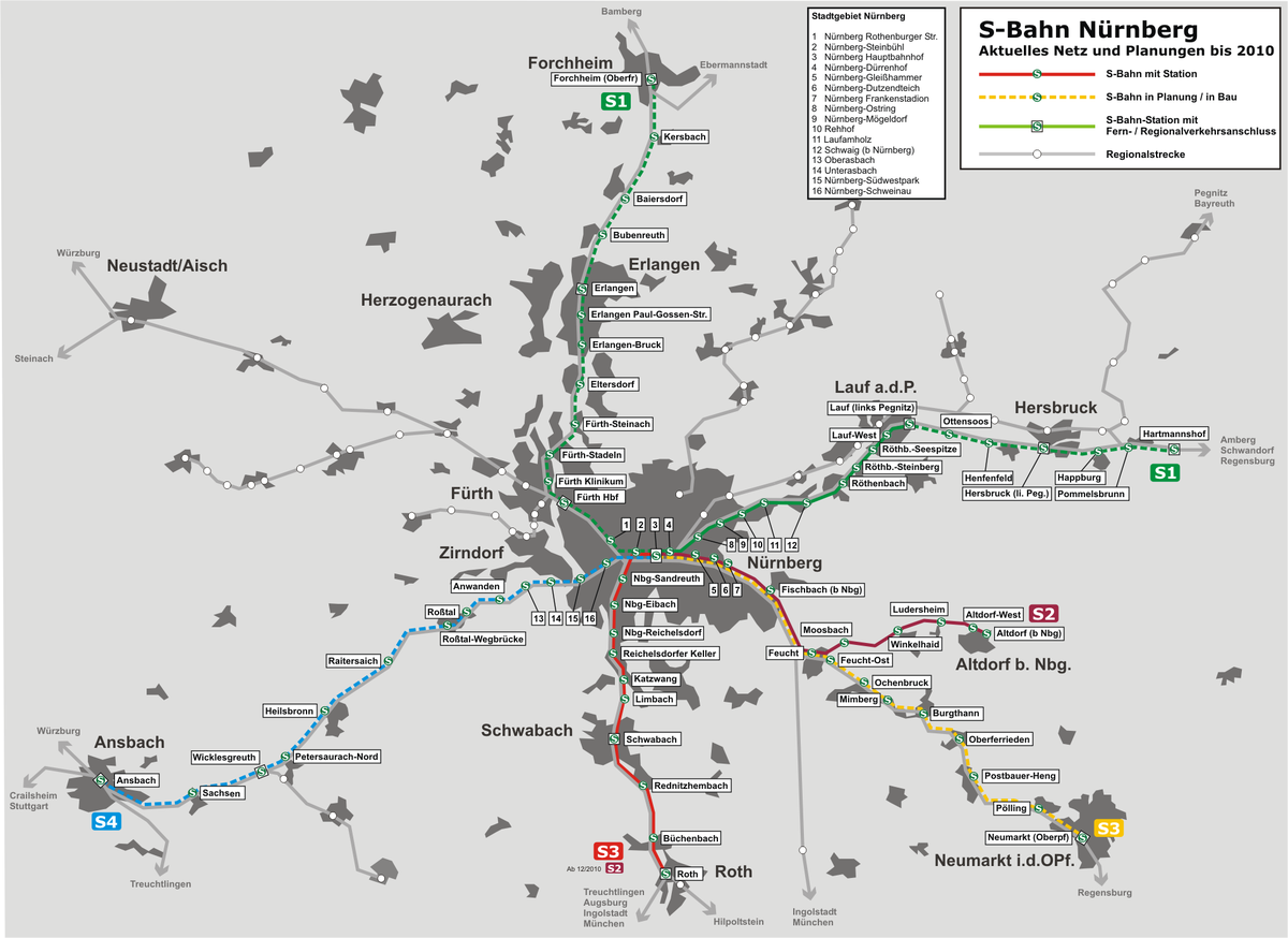 Fahrplan Nürnberg
