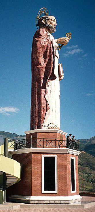 Alausí - Statue of San Pedro, Alausí