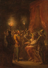 Anno 1465. Hertog Arnoud van Gelre wordt door zijn zoon Adolf gevangen genomen