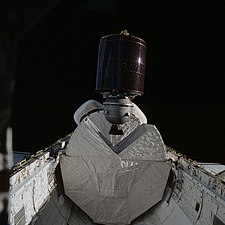 SBS-3 satellite with PAM-D stage being launched from Space Shuttle Columbia