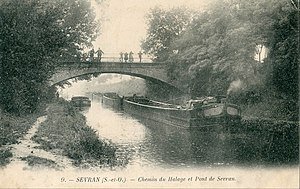 Canal de l'Ourcq - The canal at the beginning of the 20th century.
