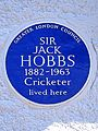 SIR JACK HOBBS 1882-1963 Cricketer lived here.jpg