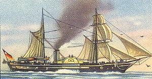 Reichsflotte - SMS ''Barbarossa'' in 1849.