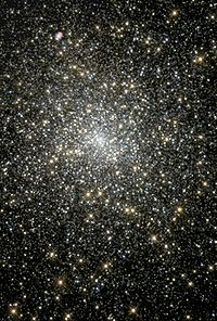 Globular cluster M15 has a 4,000-solar mass black hole at its core. NASA image.