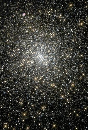 Globular cluster - Globular cluster M15 may have an intermediate-mass black hole at its core. NASA image.