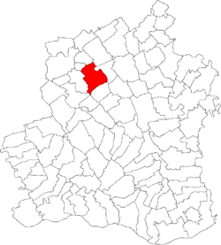 Location of Săceni