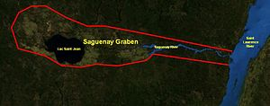 Saguenay Graben - Map of the Saguenay Graben