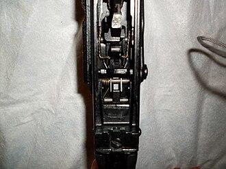 Saiga semi-automatic rifle - A closer look at the trigger mechanism of the Saiga.