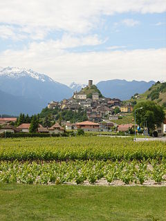 Saillon Municipality in Switzerland in Valais