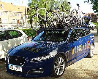 Team Wiggins Le Col - One of Team WIGGINS' Jaguar XF support cars