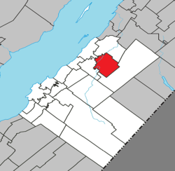 Location within Kamouraska RCM.