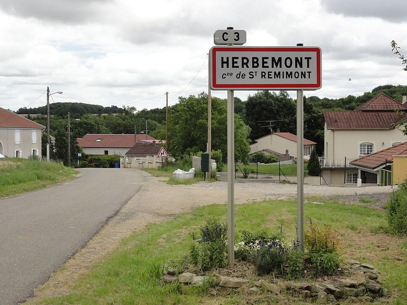 Saint-Remimont (M-et-M) city limit sign Herbemont