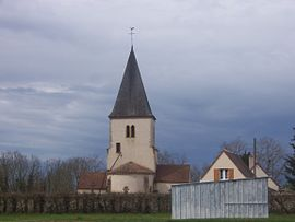 The church in Saint-Aubin-sur-Loire