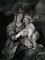 Saint Mary (the Blessed Virgin) with the Christ Child. Line Wellcome V0033731.jpg