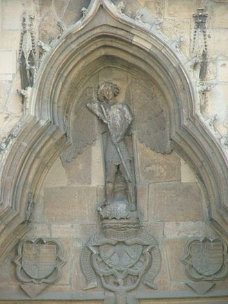 St. Michael's Church, Cluj-Napoca - Image: Saint Michael Church in Cluj Napoca detail above the entrance