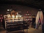 Interior of the shrine of Saintes-Maries-de-la-Mer.