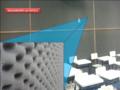 Sala de aula com isolamento acústico, aplicação de espuma..png