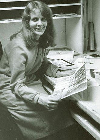 "Sally Cruikshank - Sally Cruikshank at Snazelle Films in the 1970s, where she produced her signature ""Quasi"" animated shorts"