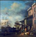 Samuel Scott, Un quai de la tamise, Victoria & Albert Museum.png