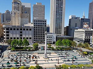 Overview of the plaza