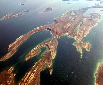 Belcher Islands - Folded Proterozoic dolomites in the Belcher (Sanikiluaq) Islands