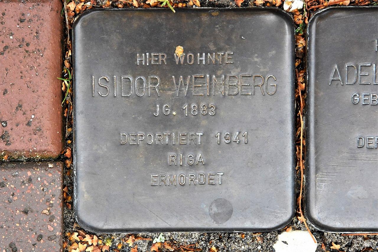 Stolperstein für Isidor Weinberg