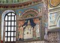 Sant'apollinare in classe, mosaici del catino, sacrifici di abele, melchidesech e abramo, 650-700 ca. 01.jpg
