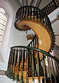 Santa Fe, USA, NM - The Loretto Chapel Mysterious Spiral Staircase - panoramio.jpg