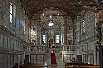 Santa Maria dei Miracoli, Venice - The interior.