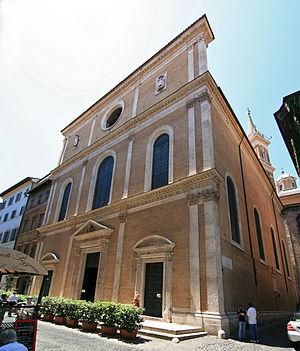 Santa Maria dell'Anima - Façade of the church.