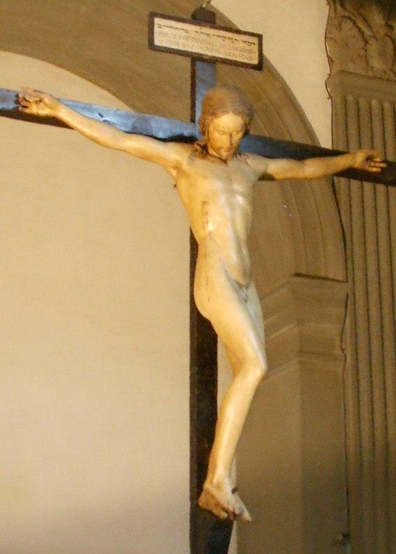 Santo Spirito, sagrestia, crocifisso di michelangelo 04