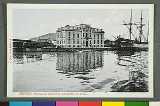 Santos. Escriptorio Central da Companhia de Docas