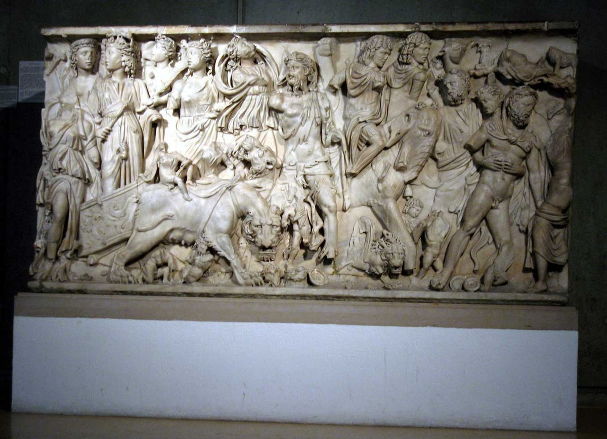 """sarcophagus with the triumph of dionysus Artists of the renaissance had access to were ancient roman sarcophagi,  32  """"triumph of dionysos and the seasons sarcophagus [roman] 955115,"""" in."""
