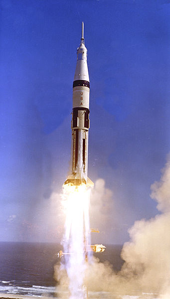 File:Saturn IB-Apollo 7 lifts off.jpg
