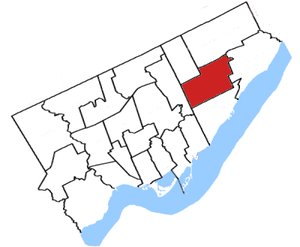 Scarborough Centre (electoral district) - Image: Scarborough Centre, 96