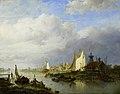 Schepen op een rivier bij een lichtbaken Rijksmuseum SK-A-1475.jpeg