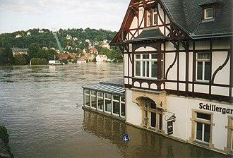 2002 European floods - Image: Schillergarten Dresden August 2002